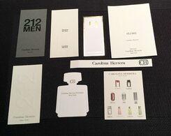 Lot De Cartes à Parfumer CAROLINA HERRERA - Modern (vanaf 1961)