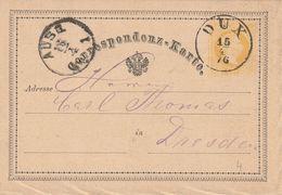 Autriche Entier Postal Dux 1876 - Interi Postali