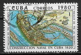Cuba 1980. Scott #2346 (U) Construction Of Naval Vessels In Cuba, 360th Anniv. - Gebruikt