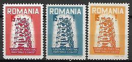 ROUMANIE    -   1957.   EUROPA  -   Emissions Des Dissidents.   Maury  N° 1 à 3 **. - 1957
