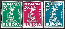 ROUMANIE    -   1958  .   EUROPA  -   Emissions Des Dissidents.   Peu Courants. - Europa-CEPT