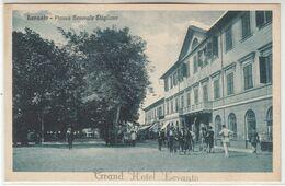 LEVANTO LA SPEZIA PIAZZA GENERALE STAGLIENO GRAND HOTEL LEVANTO - CARTOLINA ORIGINALE NON SPEDITA - Andere Städte