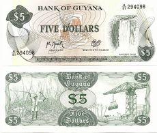 GUYANA       5 Dollars       P-22f[2]       ND (ca. 1991)       UNC - Guyana