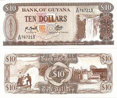 GUYANA       10 Dollars       P-23f        ND (ca. 1991)       UNC - Guyana
