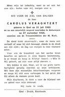Geel: 1968, Carolus Veraghtert, Ongeval - Images Religieuses