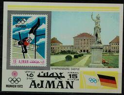 AJNAN 1971 SUMMER OLYMPICS GAMES MUNICH BLOCK MI No BLOCK 247 MNH VF!! - Summer 1972: Munich