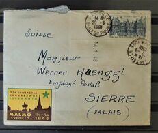 08 - 20 - France - Lettre à Destination De Sierre - Valais - Suisse //  Avec Vignette Congrès Esperanto De Malmö - Erinnofilie