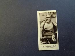 Chromo ( 255 ) 5 X 2,5 Cm - Coureur  Wielrenner  Renner  Cycliste : België  Belgique - Emile Faignaert  Maria - Lierde - Cycling