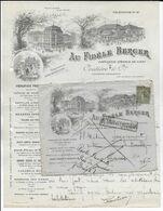 1919 - SPECTACULAIRE ENV. PUB DECOREE De VICHY (ALLIER) => PARIS => POSTE RESTANTE RIO De JANEIRO (BRESIL) ! => RETOUR - 1877-1920: Semi-moderne Periode