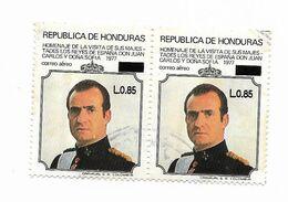 HONDURAS 1993 OVERPRINTED STAMP L 8.85 HOMAGE TO SPANISH KING & QUEEN 1977 USED - Honduras