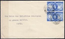75e Anniv De U.P.U  La PAIRE  Sur Enveloppe  Cachet De WATERIOO-GLASGOW  Postée Le 20 Oct 1949  Entete PUB Au Verso - 1902-1951 (Rois)