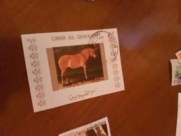 EMIRATI ARABI ARTE CAVALLO 1 VALORE - Briefmarken