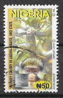 Nigeria  2010 Guenon Monkey  OBLITERE - Nigeria (1961-...)