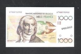 BANKBILJET 1000 F - SPEELGELD  - 7,5 Cm X 4,5 Cm  (BB 35) - [ 8] Fictifs & Specimens