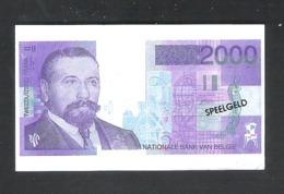 BANKBILJET 2000 F - SPEELGELD  - 7,5 Cm X 4 Cm  (BB 36) - [ 8] Fictifs & Specimens
