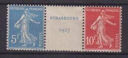 FRANCE : N° 242 A . BANDE STRASBOURG . GOMME NON ORIGINALE . 1927 . ( CATALOGUE YVERT ) . - Marcophilie (Timbres Détachés)