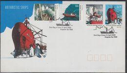 AAT 2003 Dan Ships 4v On FDC Ca Kingston Tas (49337) - FDC