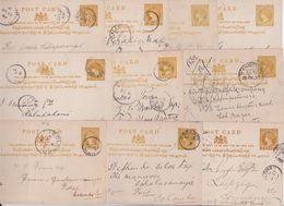 Ceylan Ceylon Postage Two Cents Queen Victoria Postal Stationery Entier Lot De 10 Cartes Postales Kandy Galle Madampe... - Ceylan (...-1947)