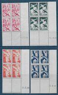 P.A.  Série N° 16 à 19 En Blocs De 4 Coin Daté  **  - Cote : 90 € - Poste Aérienne