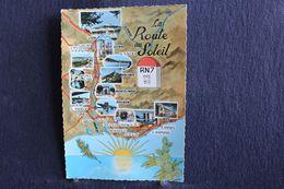 TO - 150 - Carte De La Route Du Soleil - RN 7 - Circulé 1966 De Montélimar à Flémalle-Haute - Unclassified