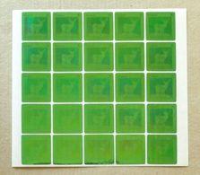 2008 Fauna Turkmenistan Self Adhesive Stamps Deer Green 25 Stamps List - Turkmenistan