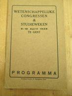 Gent 1926 Reclame Wetenschappelijke Congressen 110 Blz - Vita Quotidiana