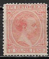 Puerto Rico 1894. Scott #85 (M) King Alfonso XIII - Puerto Rico