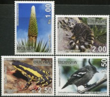 BOLIVIA 2010 Endangered Species Puya Mountain Cat Toad Frog Bird Birds Plants Flora Animals Fauna MNH - Altri