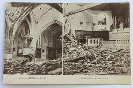 CPA WW1 Guerre 14-18 église De Bauzée Sur Aire Et Chattancourt Détruites - Guerre 1914-18