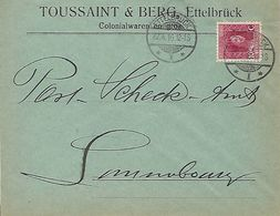 Luxembourg - LETTRE - 1916  - TOUSSAINT & BERG , ETTELBRUCK - Sonstige