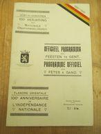 Gent 1930 Nationle Onafhankekijkheid - Histoire