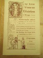 Brugge 1913 Onze Lieve Vrouw Van Blindekens - Programas