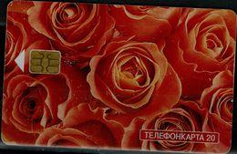 RUSSIA 2003 PHONECARD ROSES USED VF!! - Blumen