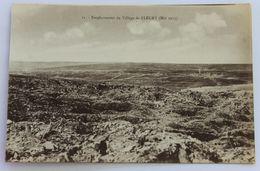 CPA WW1 Guerre 14-18 Emplacement Du Village De Fluery En Mai 1917 - Guerre 1914-18