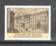 """Österreich 2020: """"EUROPA-Hist.Postrouten"""""""" Postfrisch (s. Foto) - 1945-.... 2nd Republic"""