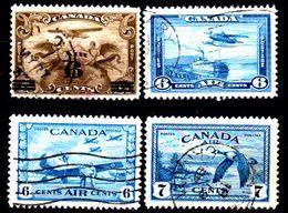 B339-Canada: P.A. 1932-1946 (o) Used - Senza Difetti Occulti - - Luftpost