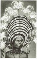 -PAPUA NEW GUINEA- -COIFFURE DE CEREMONIE-PAPOUASIE NOUVELLE GUINEE - Papua Nueva Guinea