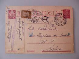 CARAVELA - PORTEADO - Postal Stationery