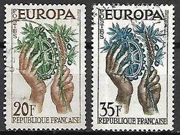 FRANCE    -   1957.    EUROPA   -    Y&T N° 1122 à 1123 Oblitérés. - 1957