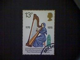 Great Britain, Scott #793, Used (o), 1976, Welsh Harp, 13p - Gebruikt