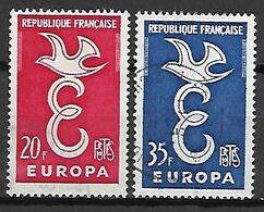 FRANCE    -   1958.    EUROPA   -    Y&T N° 1173 à 1174 Oblitérés. - Europa-CEPT