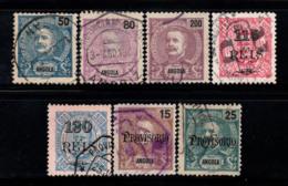 Angola 1898-1902 Oblitéré 20% Roi Charles Ier, 15 R, 25 R. - Angola