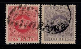 Angola 1870-81 Oblitéré 40% Couronne, 25 R, 100 R. - Angola