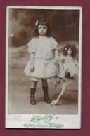 070820B - PHOTO CDV DELGAY TOULOUSE 31 HAUTE GARONNE - JEUX JOUET ANCIEN Enfant Bebe POUPEE - Antikspielzeug