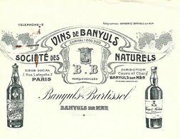 Traite 1912 / 66 BANYULS / PARIS / BANYULS-BARTISSOL / Vins De Banyuls - Bills Of Exchange