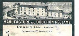 Traite 1948 / Photo Usine / 66 PERPIGNAN / Manufacture Du Bouchon Réclame - Bills Of Exchange