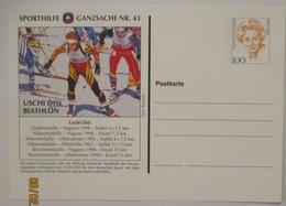 Sport Sporthilfe Ganzsache 43 Biathon Uschi Disl (23255) - Wintersport (Sonstige)