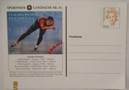 Sport Sporthilfe Ganzsache 44 Eisschnellauf Claudia Pechstein (41635) - Wintersport (Sonstige)