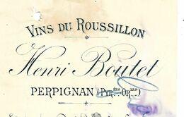 Traite 1896 / 66 PERPIGNAN / Henri BOUTET / Vins Du Roussillon / Timbre Fiscal - Bills Of Exchange