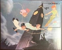 Dominica 1980 Christmas Disney Peter Pan Minisheet MNH - Dominica (1978-...)